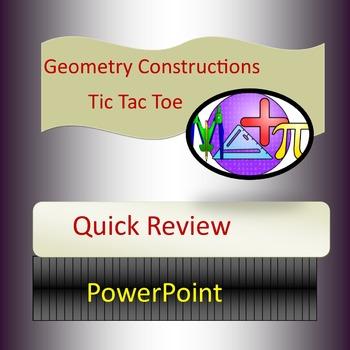 Geometry Constructions Tic Tac Toe
