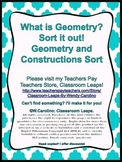 Geometry Constructions Vocabulary Sort Center Activity   *