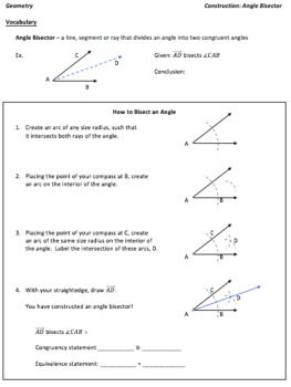 Geometry Constructions_Angle Bisector_Lesson 4 and Homework