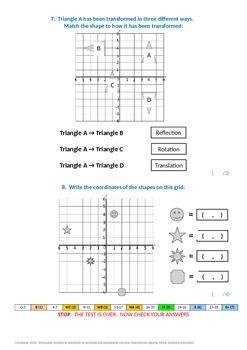 Geometry:  Coordinates in 4 Quadrants