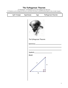 Geometry Cornell Notes: The Pythagorean Theorem