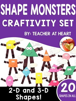 Geometry Shape Monsters Craftivity Set