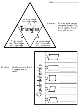 Geometry Craftivity (focusing on the 4th grade standards)