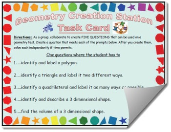 Geometry Creation Station Task Card