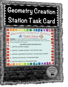 Geometry Creation Station Task Card