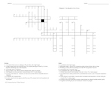 Geometry Criss Cross Vocab Puzzle