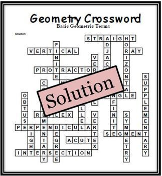 Geometry Crossword: 25 Clue... by Scipi - Science and Math ...