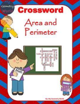 Geometry Crossword Puzzle: Area and Perimeter