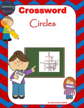 Geometry Crossword Puzzle: Circles
