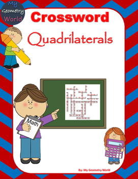 Geometry Crossword Puzzle: Quadrilaterals