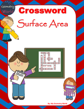 Geometry Crossword Puzzle: Surface Area
