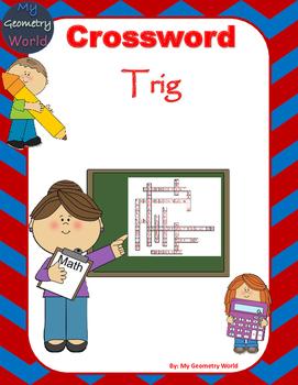 Geometry Crossword Puzzle: Trig