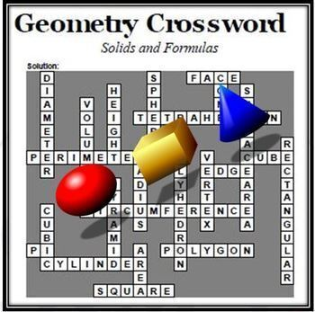 Geometry Vocabulary Crosswo... by Scipi - Science and Math ...