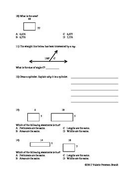 Geometry Cumulative Review Assessments