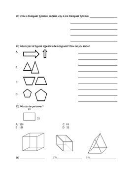 Geometry Cumulative Review Class Work
