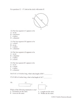 Geometry Cumulative Review Homework (5 assignments)