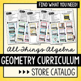 Geometry Curriculum Store Catalog - All Thing Algebra®