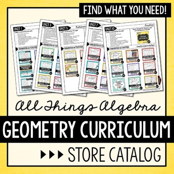 Geometry Curriculum Store Catalog