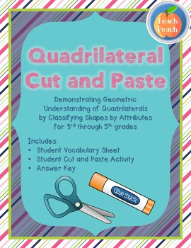 Geometry Cut and Paste - Math Common Core Standards 3rd, 4th, & 5th