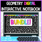 Geometry DIGITAL Interactive Notebook BUNDLE for Distance Learning