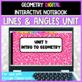 Geometry DIGITAL Interactive Notebook:  Lines & Angles Unit