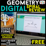 Geometry DIGITAL Spiral Review | Distance Learning | Googl