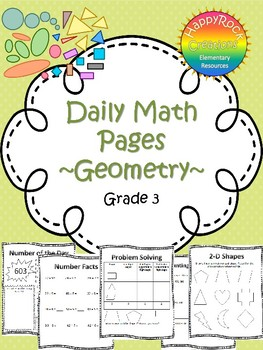 Geometry Daily Math Pages