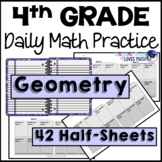 Geometry Daily Math Review 4th Grade Bell Ringers Warm ups