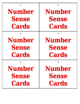 Geometry, Data, Algebra, and Number Sense Review Game - .docx