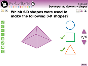 Geometry: Decomposing Geometric Shapes - Practice the Skill 1 - MAC Gr. PK-2