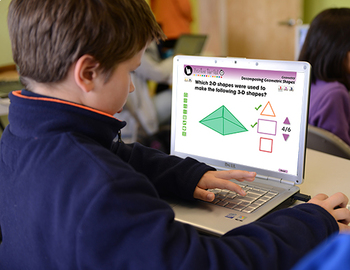 Geometry: Decomposing Geometric Shapes - Practice the Skill 1 -NOTEBOOK Gr. PK-2