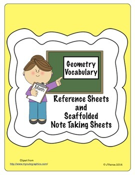 Geometry Definitions/Reference Sheet