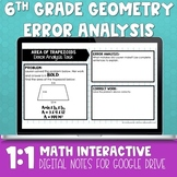 Geometry Digital Error Analysis for Distance Learning