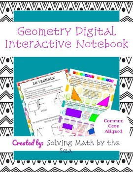 Geometry Digital Interactive Notebook-Google Slides