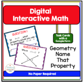 Geometry Digital Interactive Task Cards Name That Property