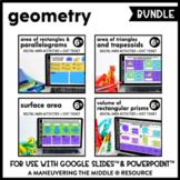 Geometry Digital Math Activity Bundle | 6th Grade Math Dis