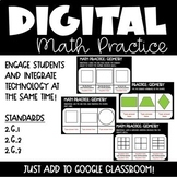 Geometry Digital Math Practice for 2nd grade