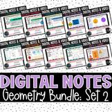 Geometry Digital Notes Set 2 Bundle | Distance Learning |