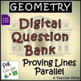Geometry Digital Question BANK 16 - Proving Lines Parallel