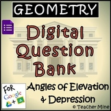 Geometry Digital Question BANK 67 - Angles of Elevation &