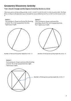 Geometry Discovery Activity - Pascal's Triangle and Points around the Circle