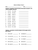 Geometry:  Distance Formula and Midpoint Formula, Practice