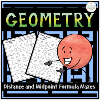 Geometry Distance and Midpoint Formula Mazes