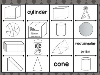 Geometry Dominoes - 3D Shapes