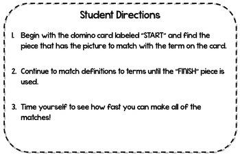 Geometry Dominoes Math Game