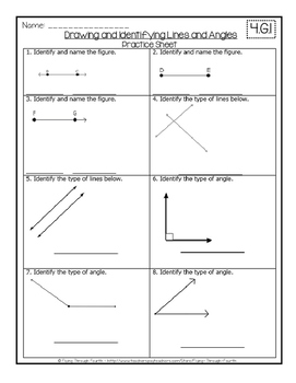 Geometry: Drawing & Identifying Lines & Angles 4.G.1