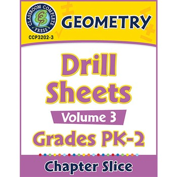 Geometry - Drill Sheets Vol. 3 Gr. PK-2