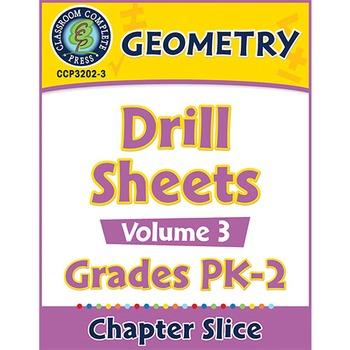 Geometry - Drill Sheets Vol. 3 Gr. PK-2