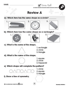 Geometry - Drill Sheets Vol. 4 Gr. PK-2