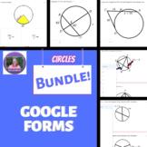 Geometry:   ENTIRE Circles Unit Mini Formative Assessments